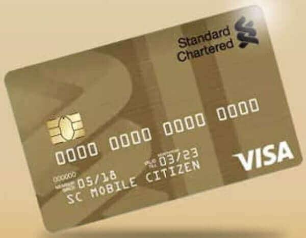 credit card in Nigeria - visa gold
