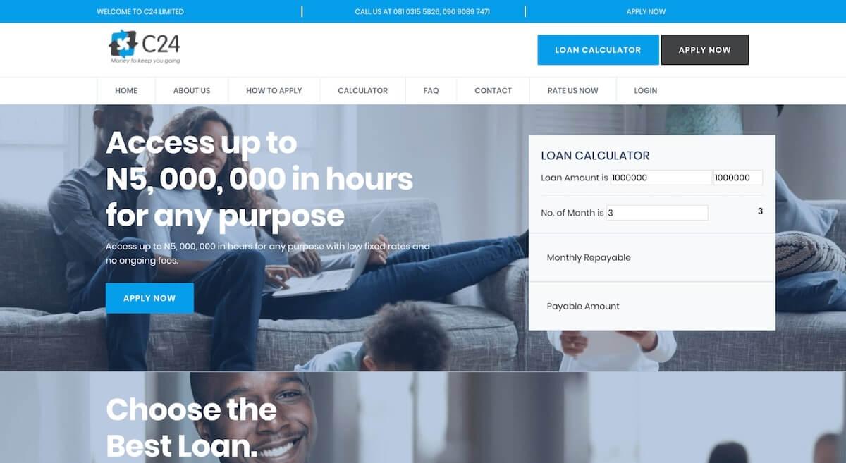 Loan app in Nigeria - C24