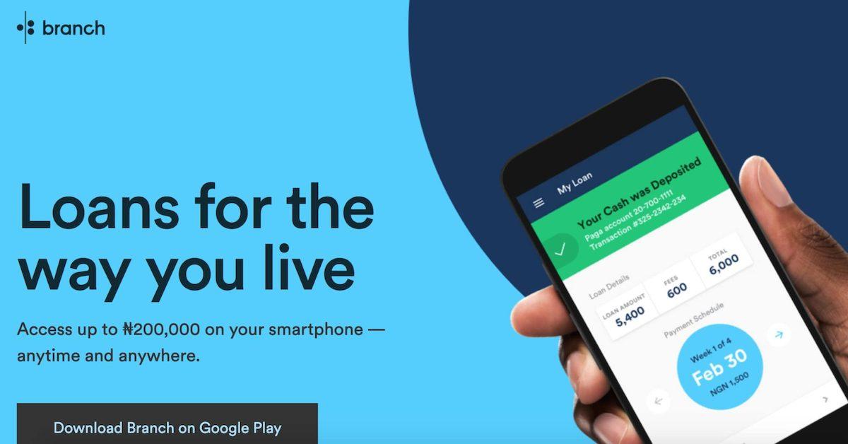 Loan app in Nigeria - Branch