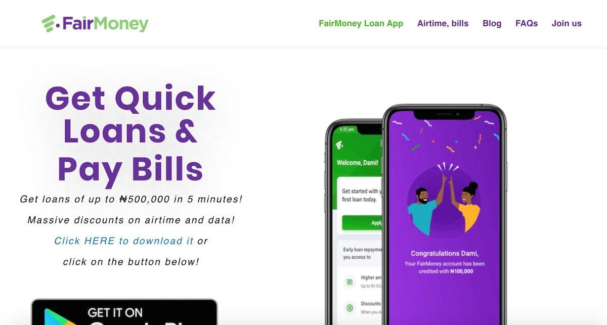 Loan app in Nigeria - FairMoney