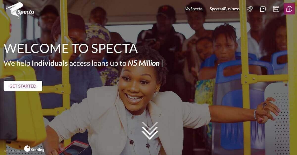Loan app in Nigeria - Specta