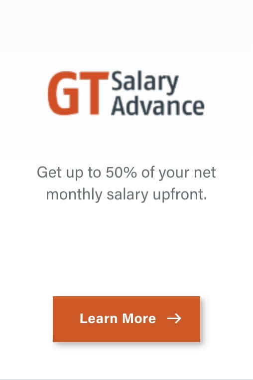 GTBank salary advance