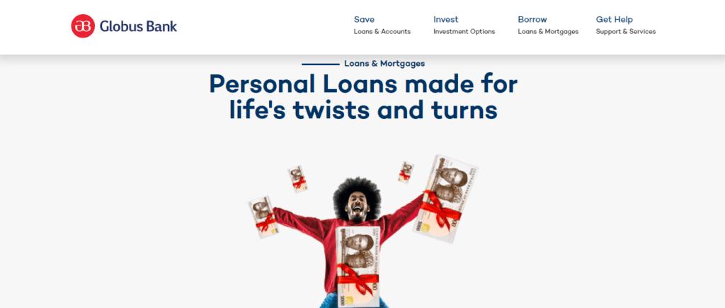globus bank loan