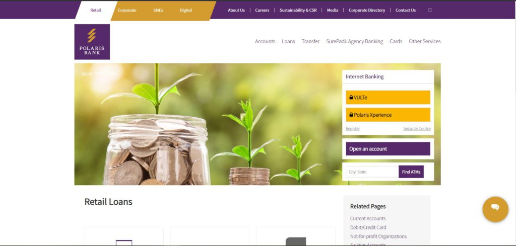 Polaris Bank loans