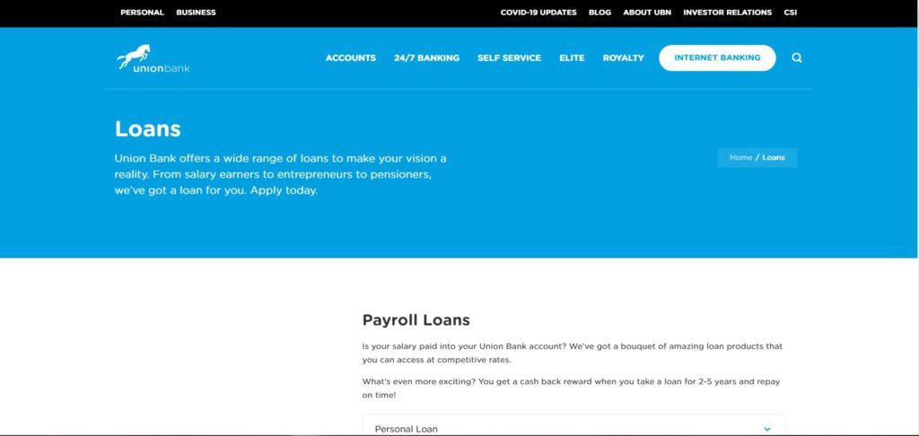 Union Bank Loans